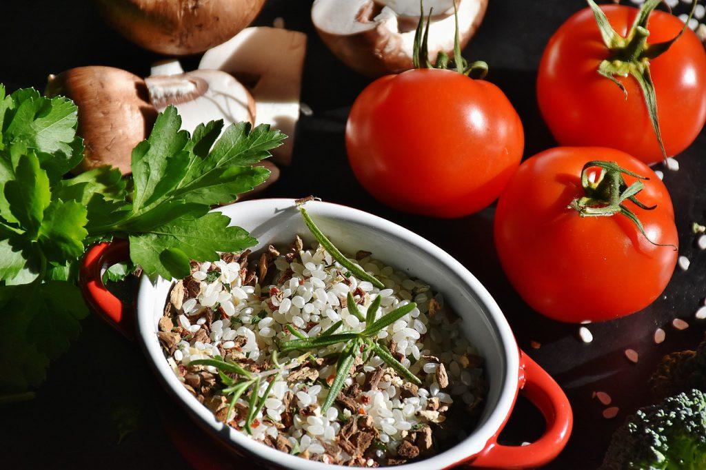 Ingredientes risotto de champiñones