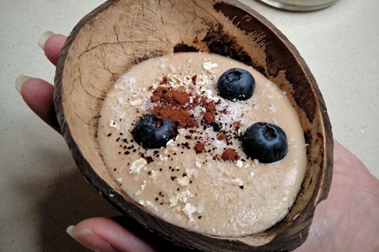Natillas de coco y avellana