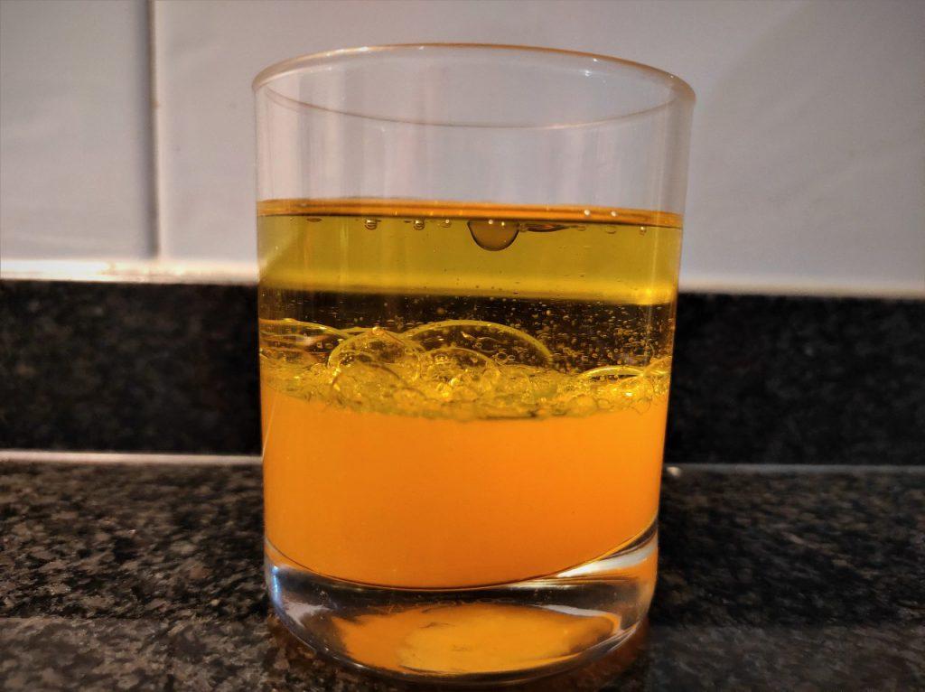 vinagreta de mandarina con ensalada de arroz integral