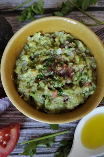 guacamole casero receta