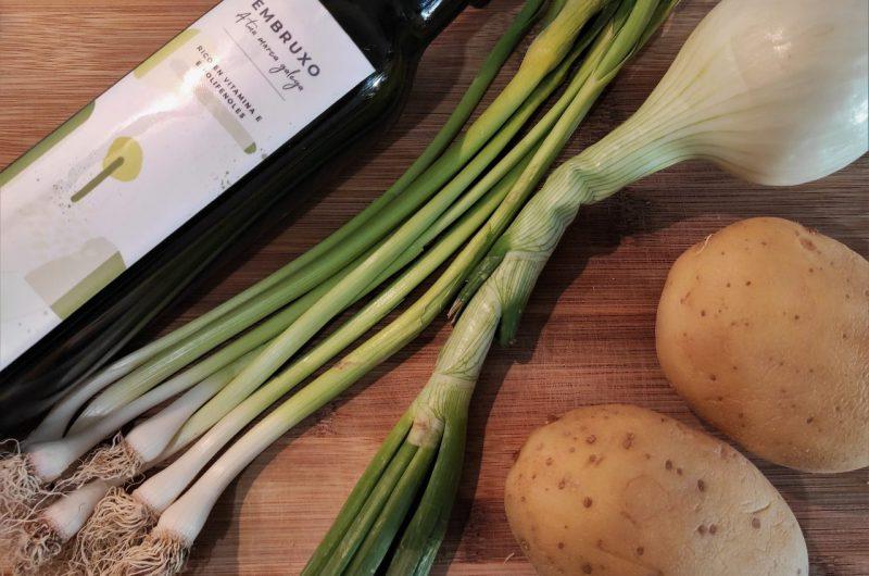 sopa de ajetes y cebolleta ingredientes